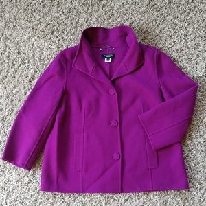 [Talbots] Soft Wool Button-up Jacket, Pockets